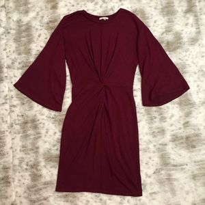 Maurice's- Raspberry Long Sleeve Bodycon Dress